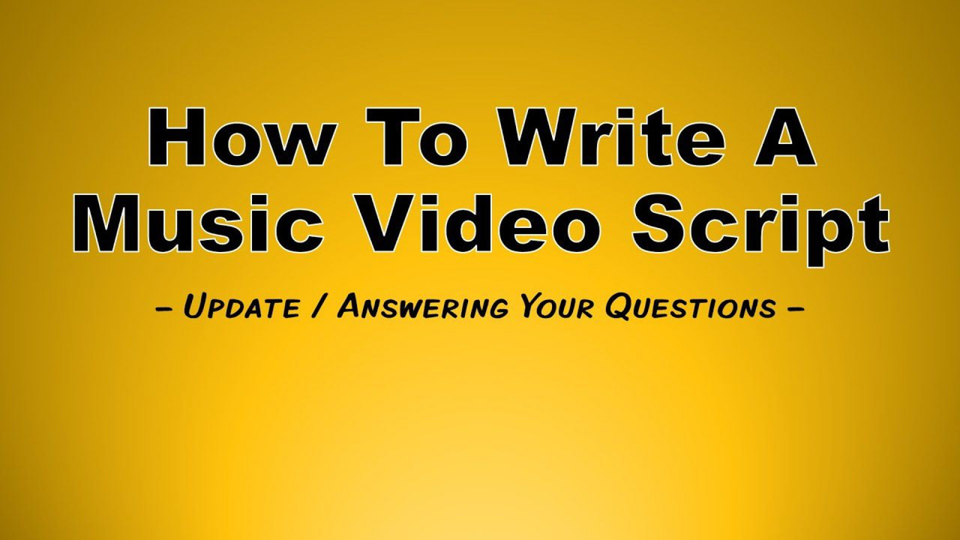 002 Stupendou Music Video Script Template Example  Google Doc Free1920