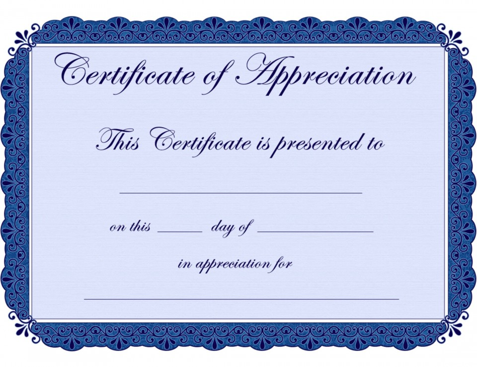 002 Stupendou Recognition Certificate Template Free Highest Quality  Employee Award Of Download Word960
