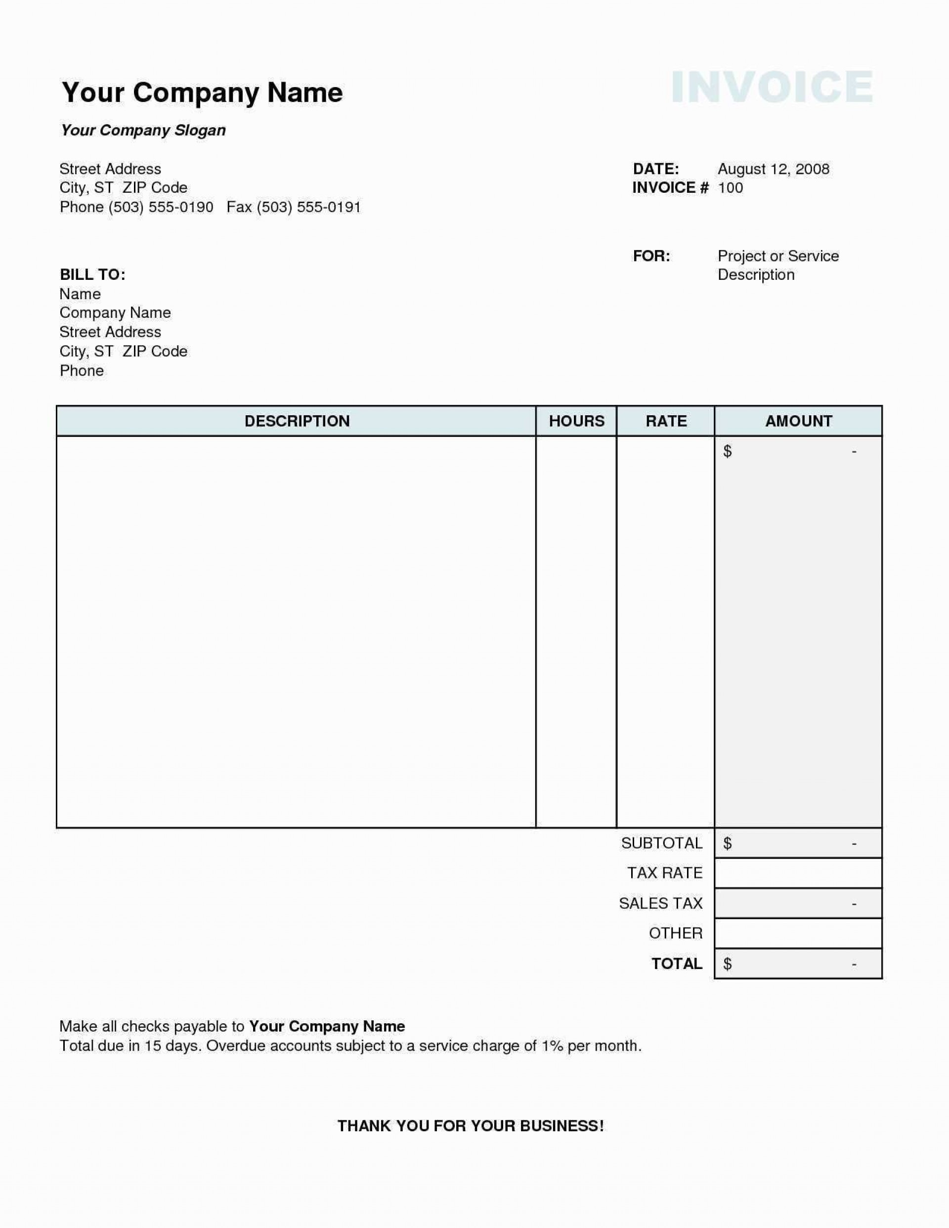 002 Stupendou Sample Tax Invoice Excel Download High Definition 1920