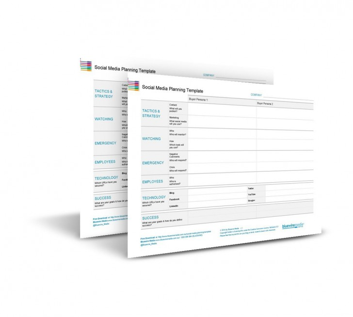 002 Stupendou Social Media Plan Template Highest Clarity  Free Download Ppt Marketing Excel728