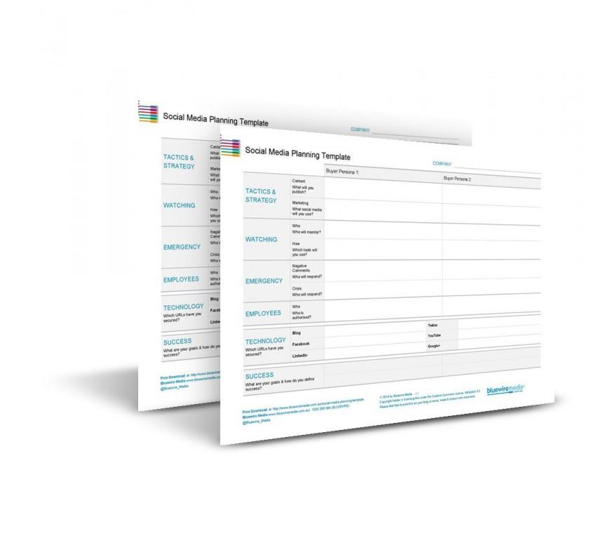 002 Stupendou Social Media Strategy Template Pdf Sample  Marketing Plan