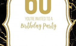002 Surprising 60 Birthday Invite Template High Definition  Templates 60th Printable Free
