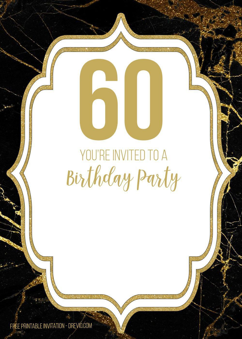 002 Surprising 60 Birthday Invite Template High Definition  Templates 60th Printable FreeFull