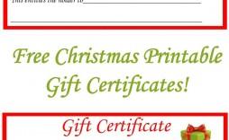 002 Surprising Blank Gift Certificate Template Sample  Free Printable Downloadable