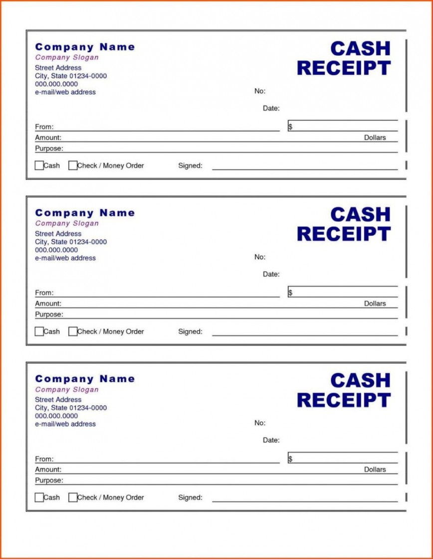 002 Surprising Cash Receipt Template Word Design  Format Doc India