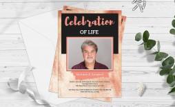 002 Surprising Celebration Of Life Invitation Template Free Image