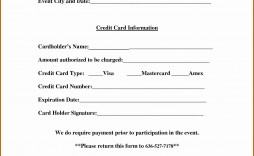 002 Surprising Credit Card Form Template Excel High Resolution  Authorization Payment