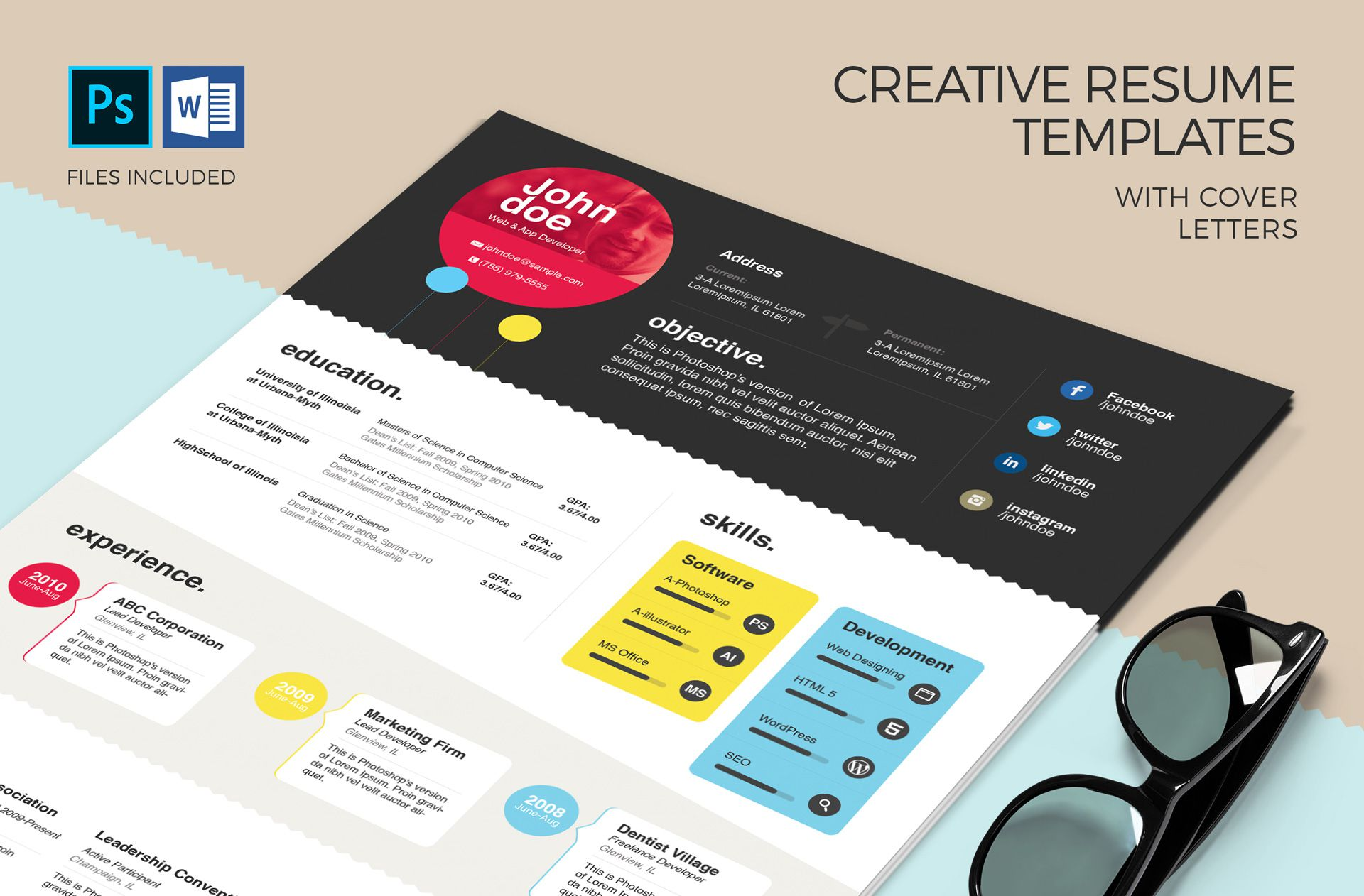 002 Surprising Download Elegant Resume Template Microsoft Word High Def Full