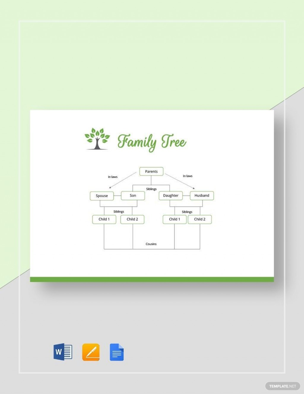 002 Surprising Family Tree Template Google Doc Image  Docs I There A On Free EditableLarge