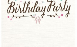 002 Surprising Free Birthday Card Invitation Template Printable Picture
