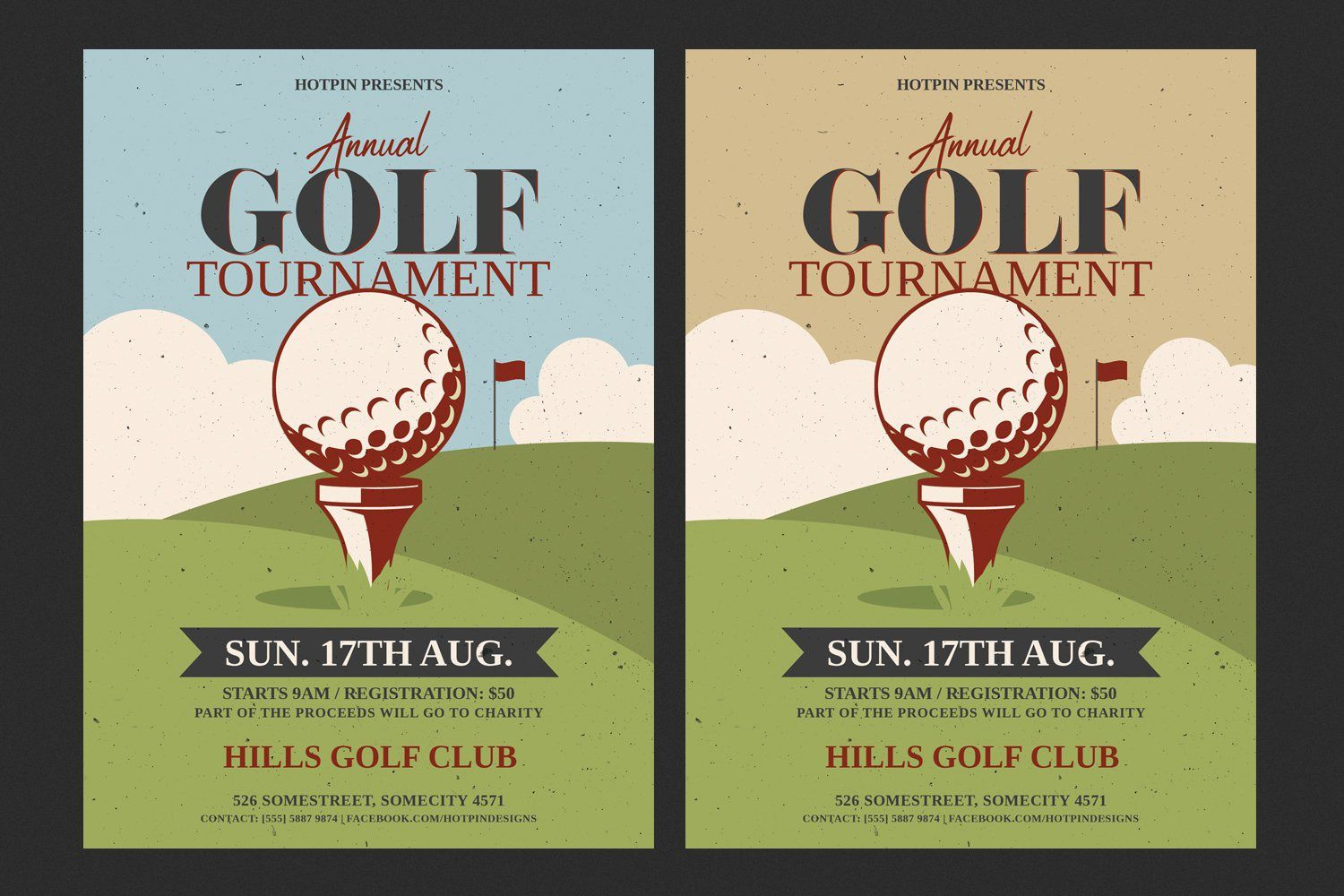 002 Surprising Free Charity Golf Tournament Flyer Template Example Full
