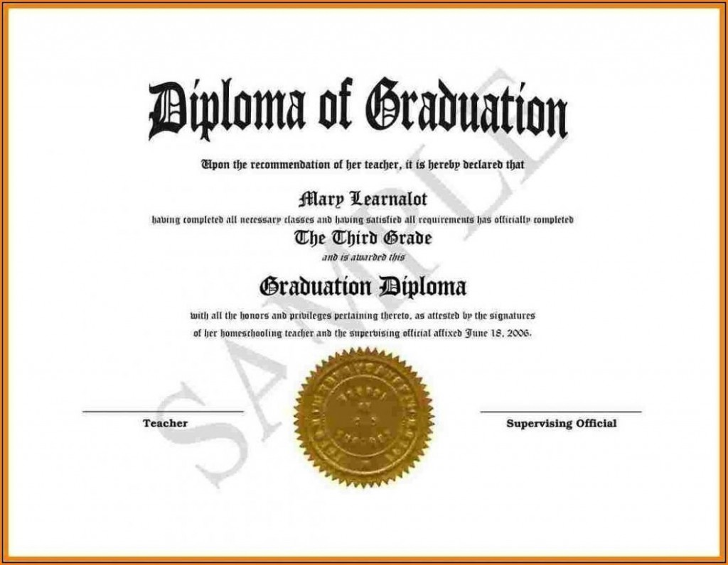 002 Surprising Free Editable High School Diploma Template Picture  Templates Printable With Seal FillableLarge