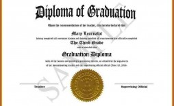 002 Surprising Free Editable High School Diploma Template Picture  Templates Printable With Seal Fillable