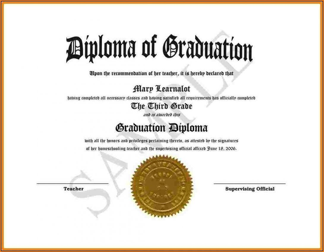 002 Surprising Free Editable High School Diploma Template Picture  Templates Printable With Seal FillableFull