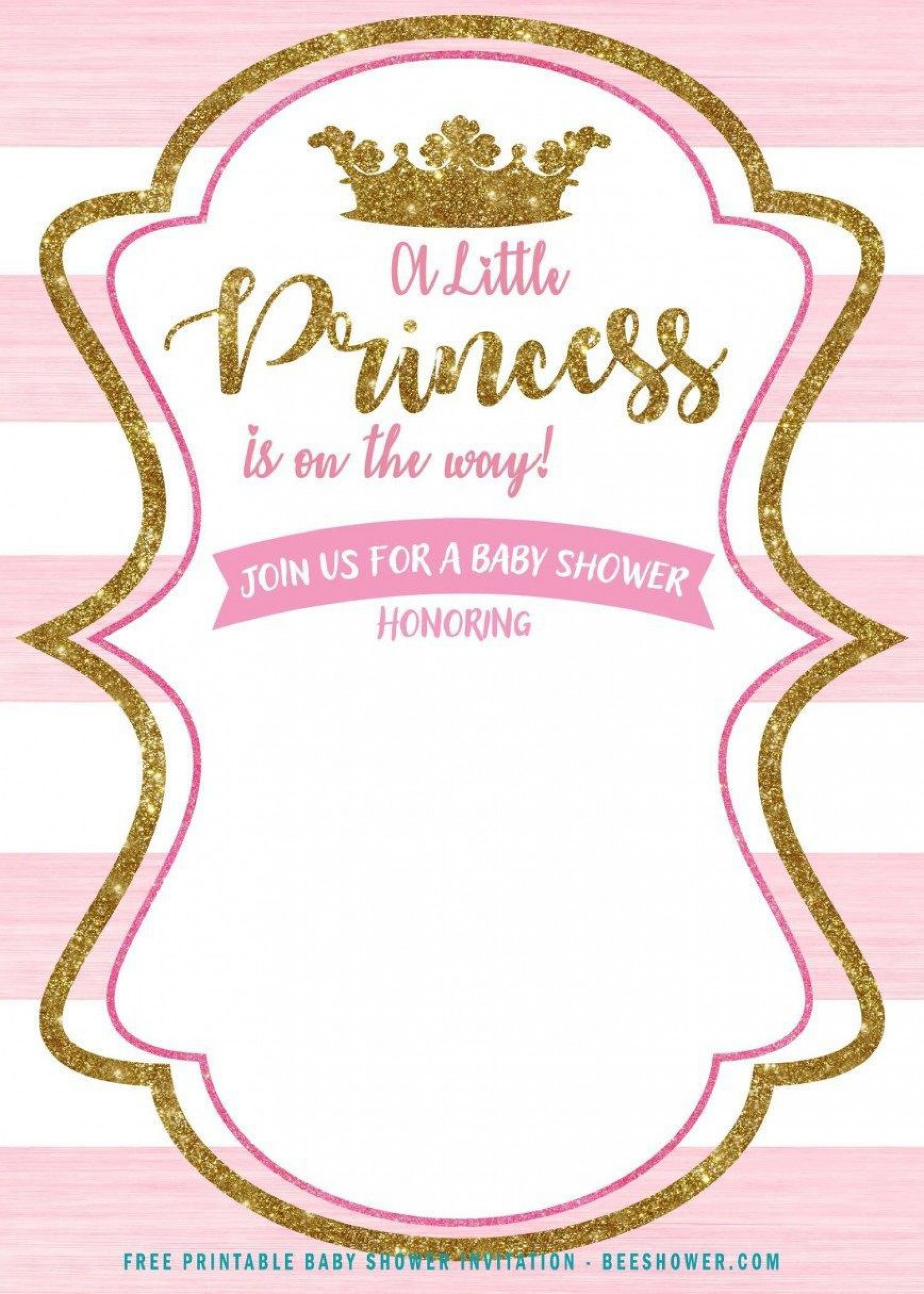 002 Surprising Free Princes Baby Shower Invitation Template For Word Highest Clarity 1920
