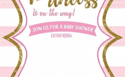 002 Surprising Free Princes Baby Shower Invitation Template For Word Highest Clarity