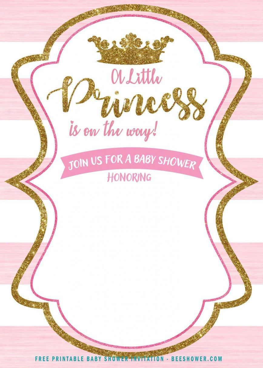 002 Surprising Free Princes Baby Shower Invitation Template For Word Highest Clarity Full