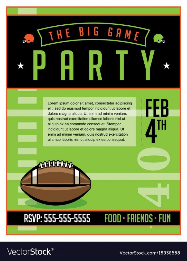 002 Surprising Free Tailgate Party Flyer Template Download Photo 728