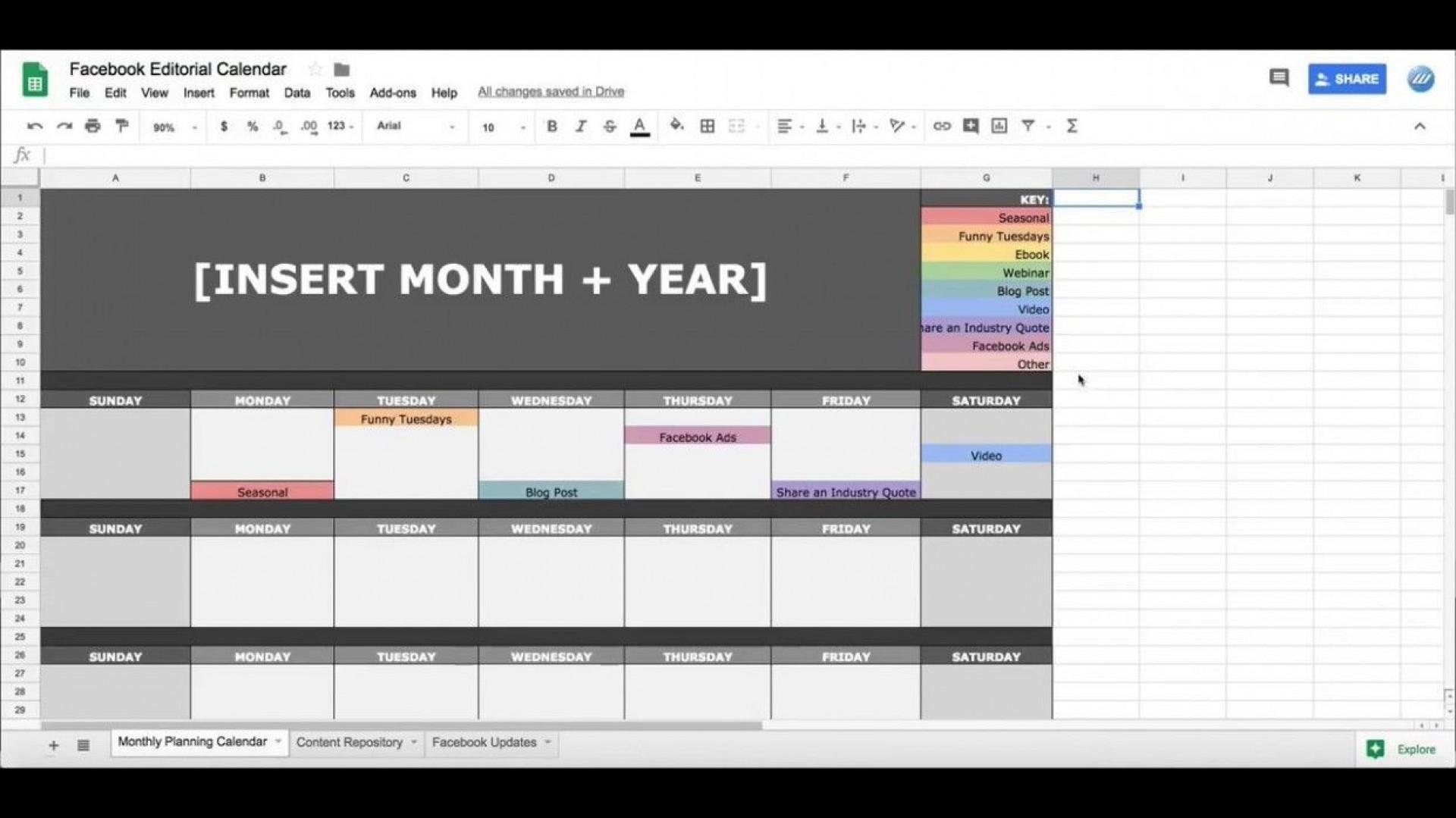 002 Surprising Google Sheet Calendar Template High Resolution  Templates Monthly Spreadsheet 2020 20181920