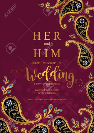 002 Surprising Indian Wedding Invitation Template Highest Quality  Psd Free Download Marriage Online For Friend320