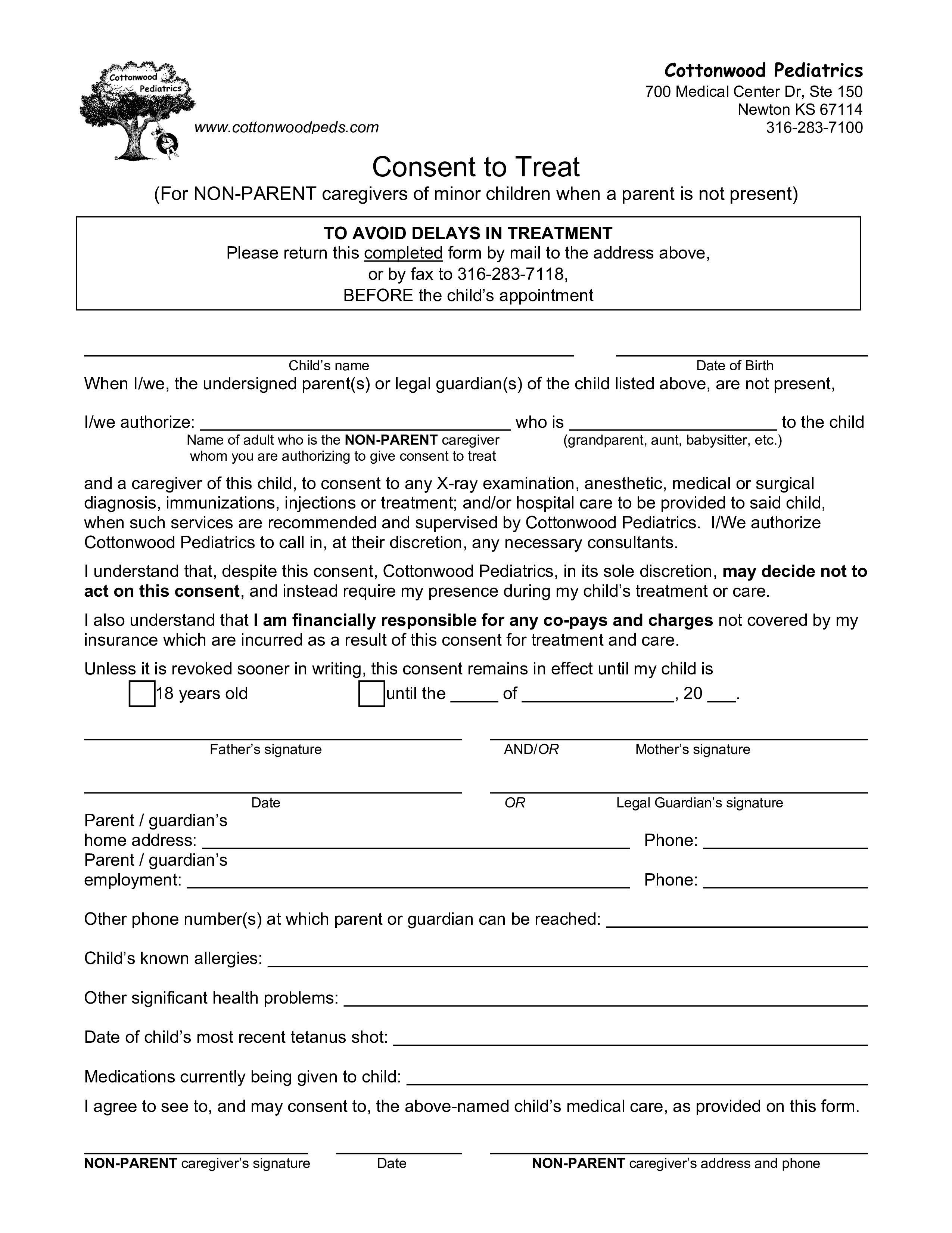002 Surprising Medical Consent Form Template Idea  Templates FreeFull