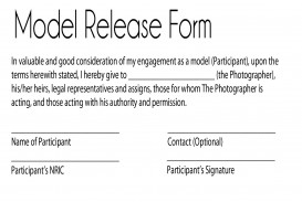 002 Surprising Model Release Form Template Picture  Photographer Gdpr Simple
