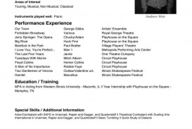 002 Surprising Musical Theater Resume Template Word Example  Theatre