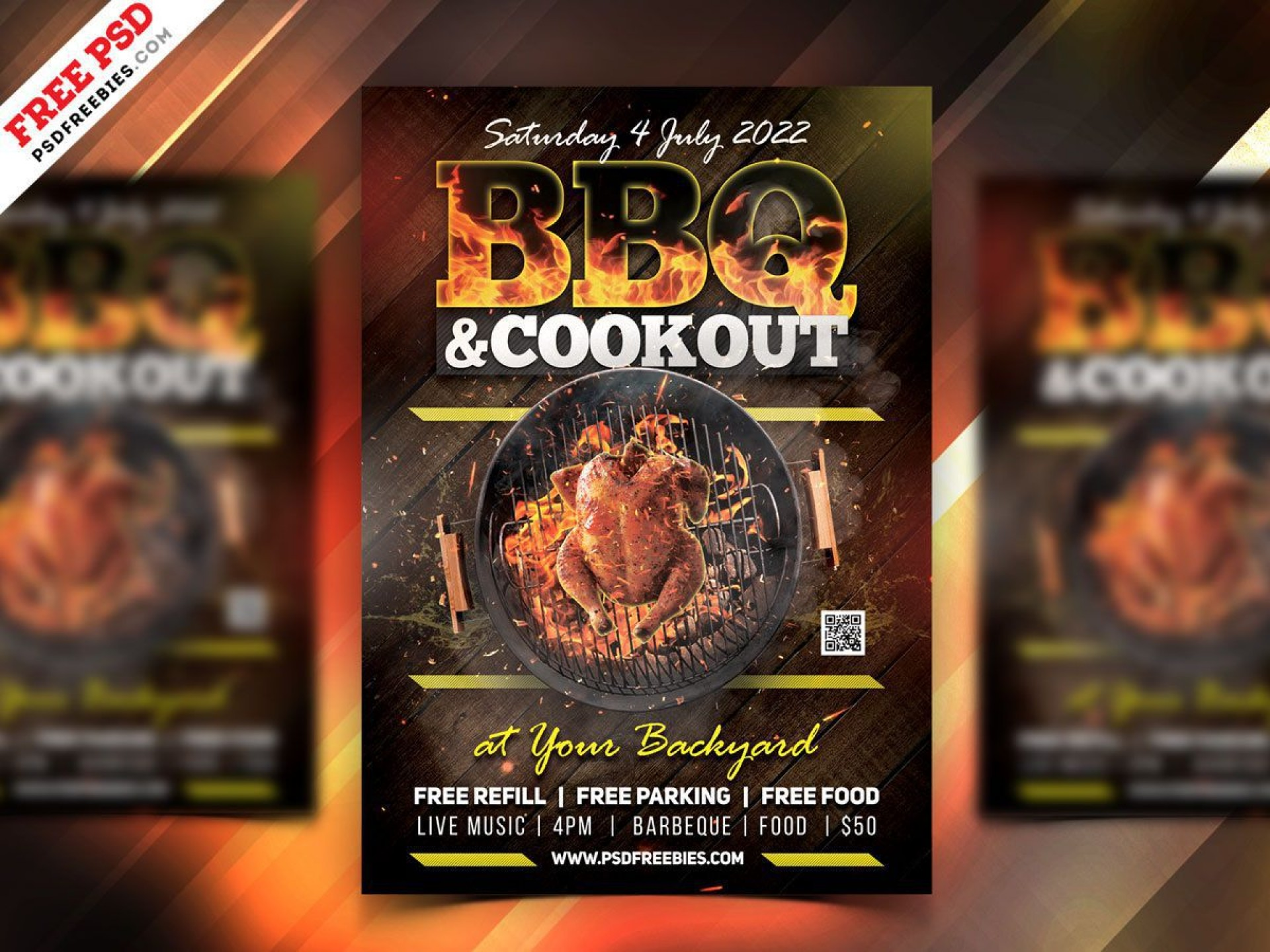002 Surprising Party Flyer Psd Template Free Download Image  Rave1920