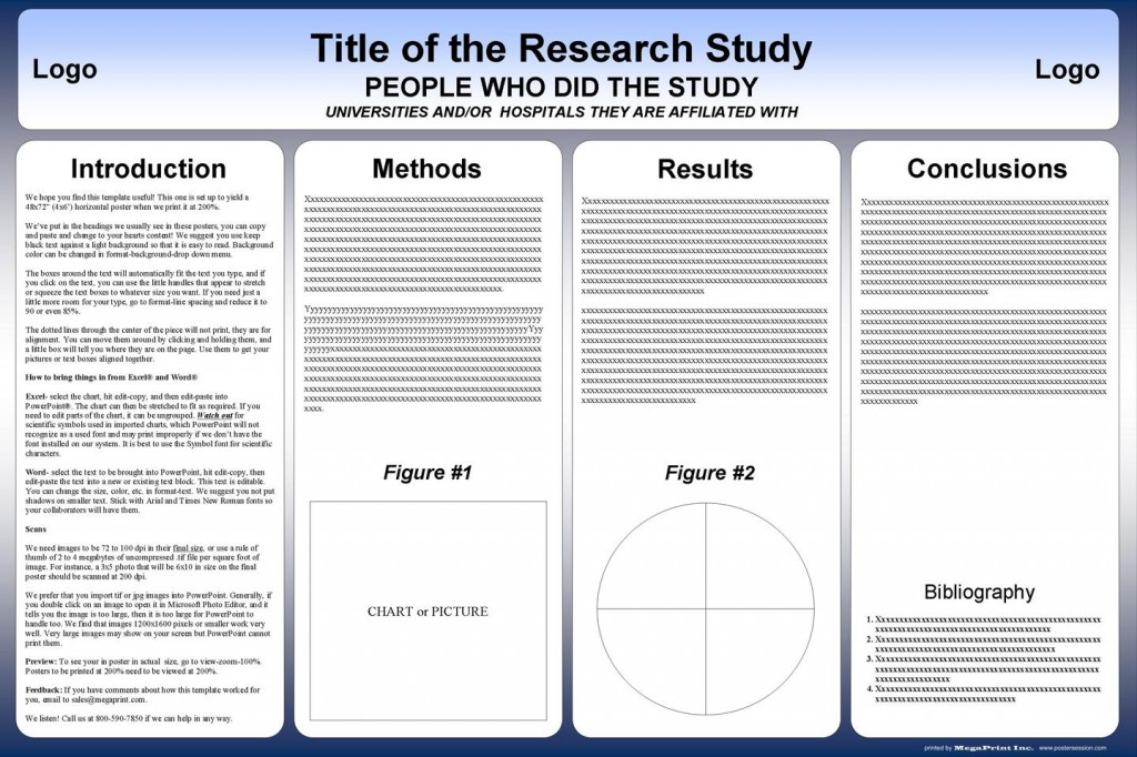 002 Surprising Scientific Poster Template Free Download Example  A1 CreativeLarge