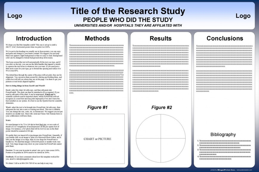 002 Surprising Scientific Poster Template Free Download Example  Creative Ppt A0