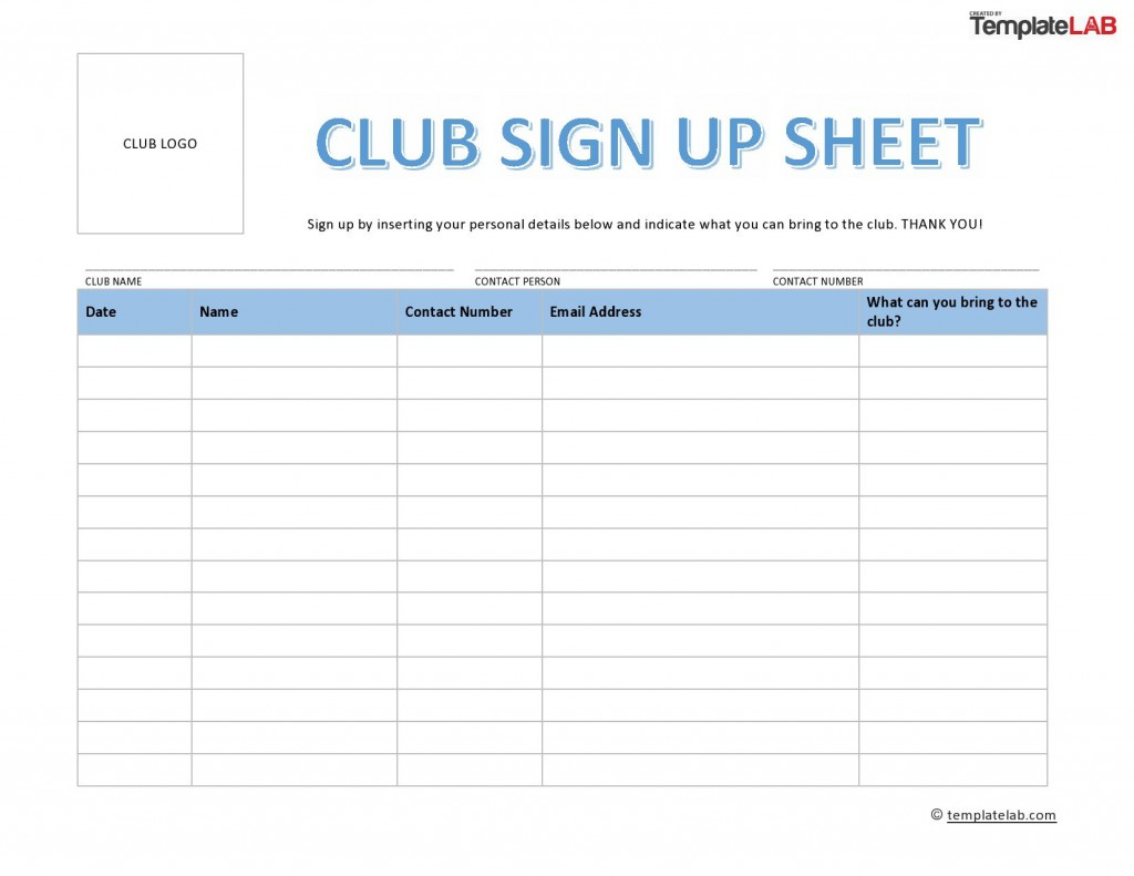 002 Surprising Sign Up Sheet Template Concept  Staff In OfficeLarge