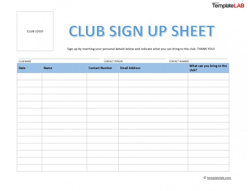 002 Surprising Sign Up Sheet Template Concept  Free Printable In Overtime Excel