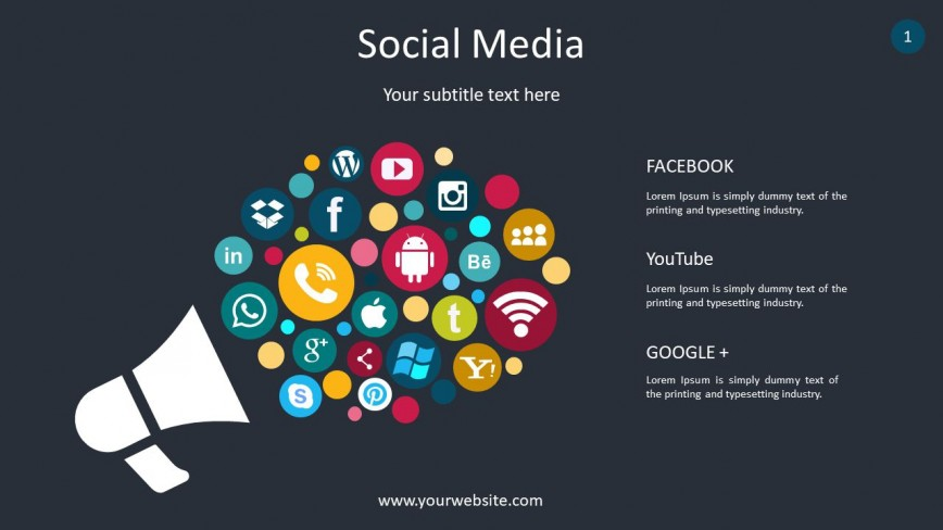 002 Surprising Social Media Ppt Template Free Picture  Report Powerpoint Download