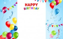 002 Surprising Template For Birthday Card Idea  Happy Invitation