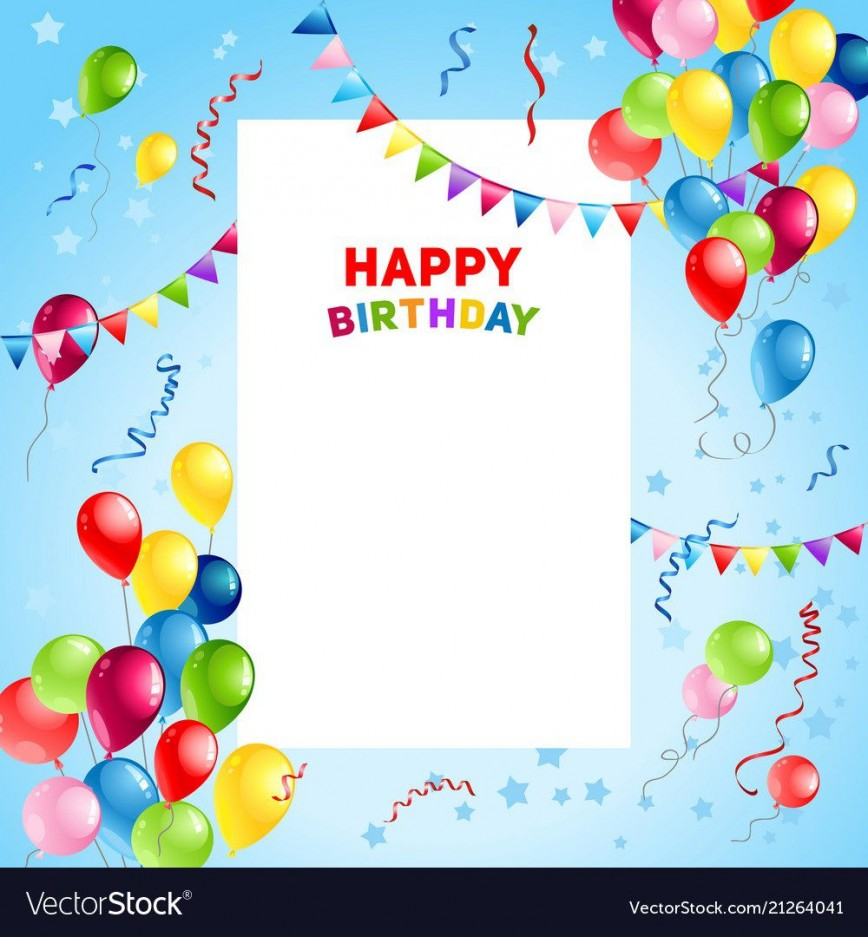 002 Surprising Template For Birthday Card Idea  Microsoft Word Design Happy868