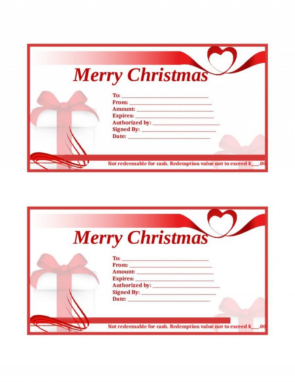 002 Surprising Template For Christma Gift Certificate Free Sample  Voucher Uk Editable Download Microsoft WordLarge
