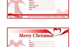 002 Surprising Template For Christma Gift Certificate Free Sample  Download Microsoft Word Uk