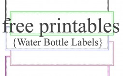 002 Surprising Water Bottle Label Template Inspiration  Free Photoshop Baby Shower Psd