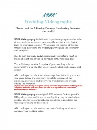 002 Surprising Wedding Videography Contract Template Highest Quality  Pdf Example Word320