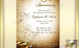 002 Top 50th Anniversary Invitation Template High Def  Templates Wedding Free Download Golden