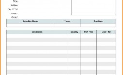 002 Top Blank Invoice Template Excel Highest Quality  Free Download Receipt