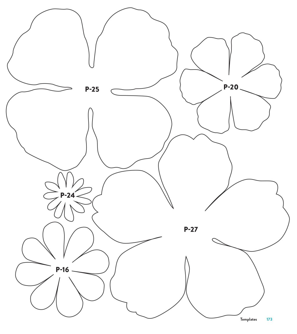 002 Top Downloadable Free Printable Paper Flower Template Idea  TemplatesLarge