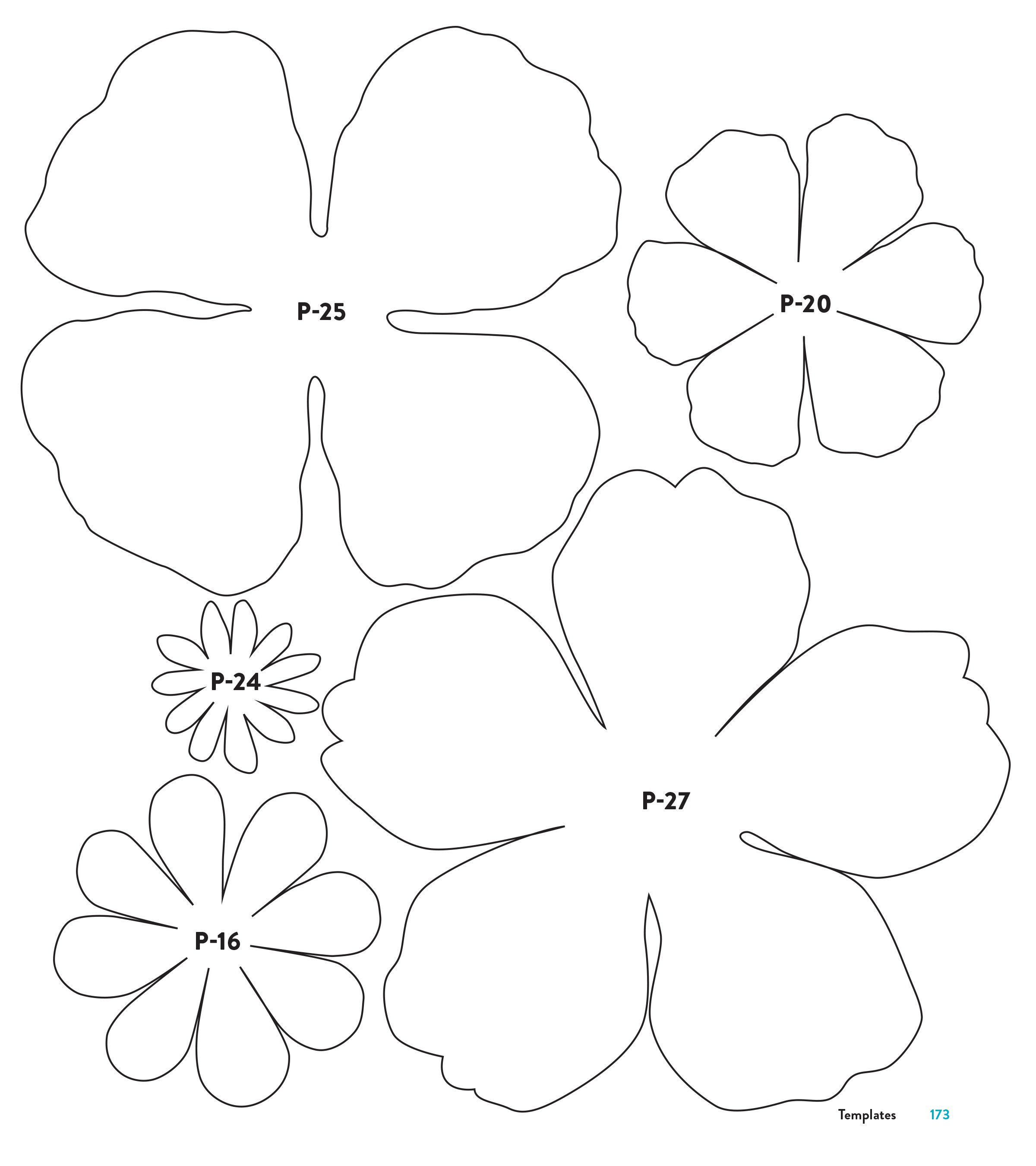 002 Top Downloadable Free Printable Paper Flower Template Idea  TemplatesFull