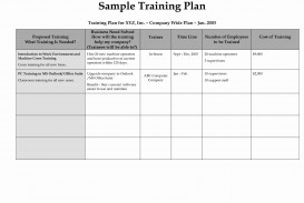 002 Top Employee Training Plan Template Photo  Word Excel Download Staff Program