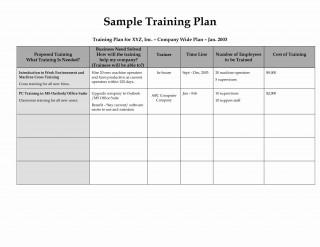 002 Top Employee Training Plan Template Photo  Word Excel Download Staff Program320