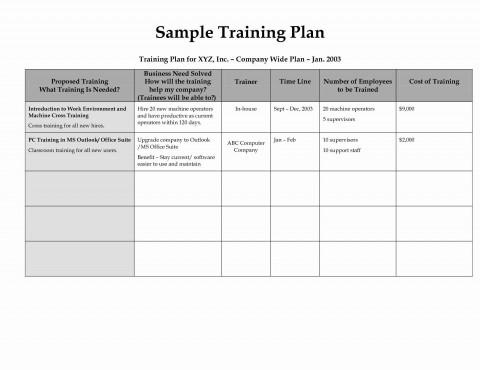 002 Top Employee Training Plan Template Photo  Word Excel Download Staff Program480