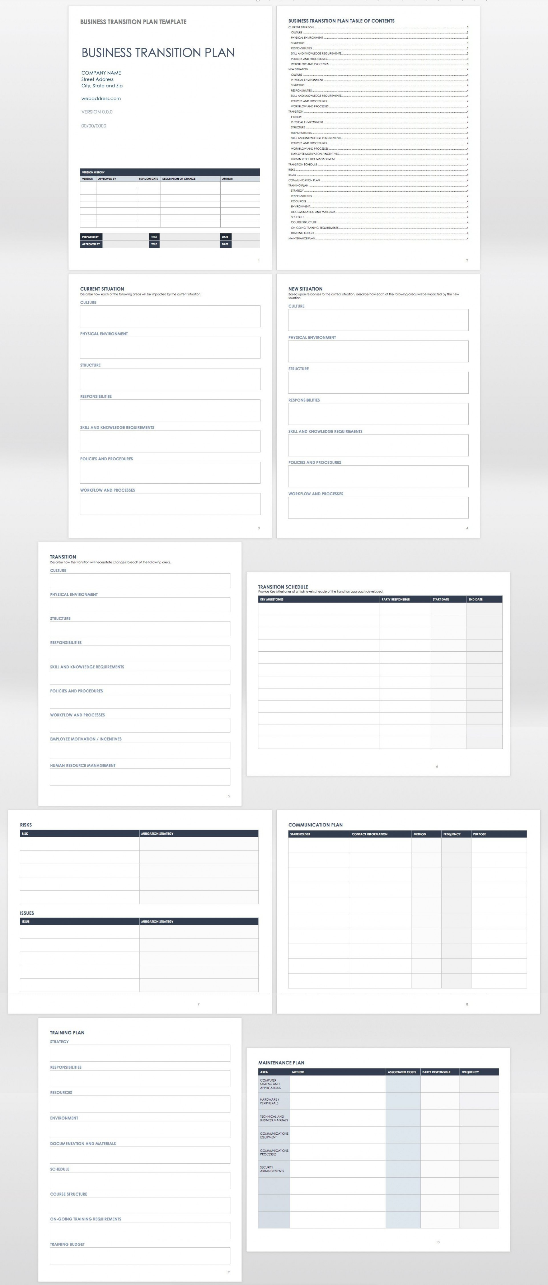 002 Top Employee Transition Plan Template Example  For Leaving Job Excel Word Internal1920