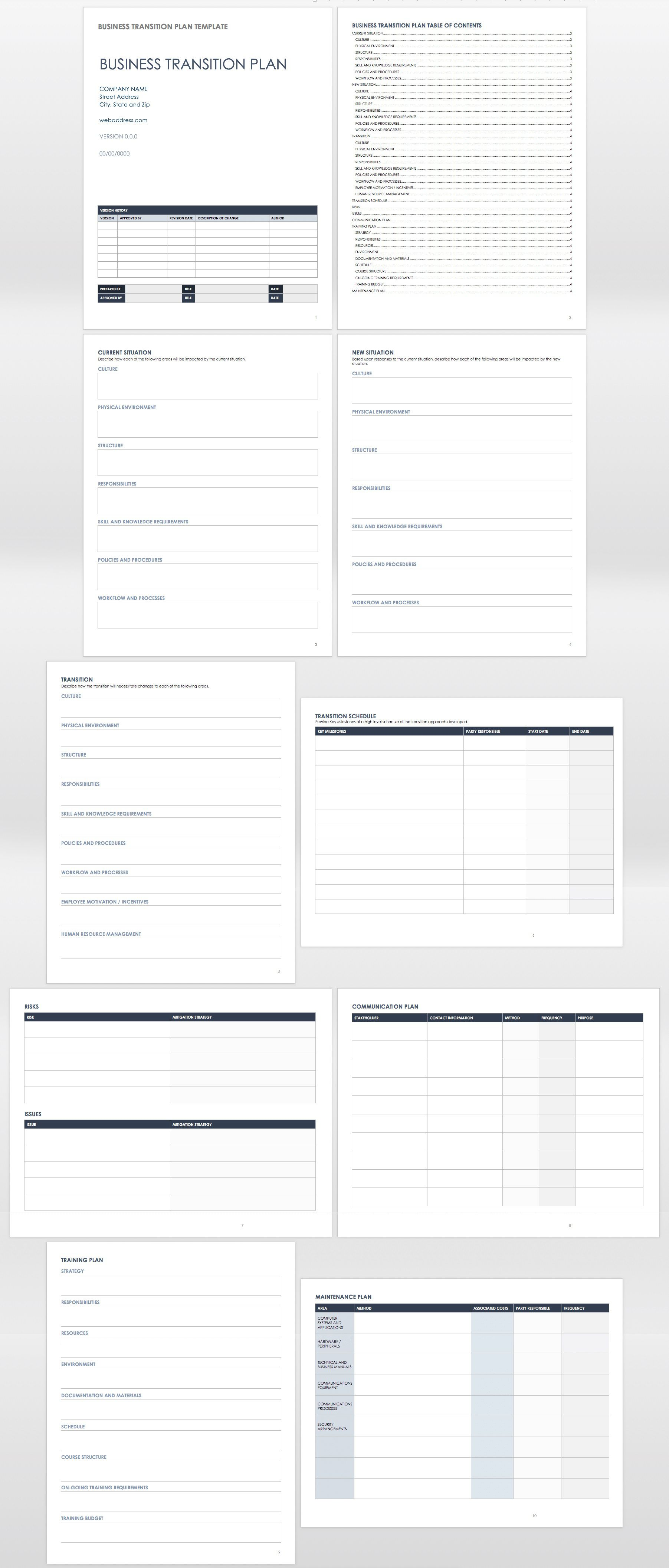002 Top Employee Transition Plan Template Example  For Leaving Job Excel Word InternalFull
