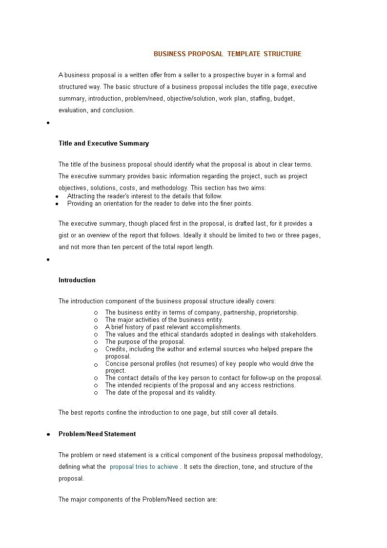 002 Top Executive Summary Template For Proposal. Highest Quality  Sample Proposal Pdf ProjectFull