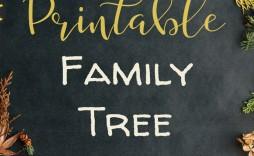 002 Top Family Tree Book Template Photo  Free